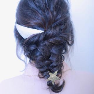グレー グラデーションカラー ブラウン ヘアアレンジ ヘアスタイルや髪型の写真・画像