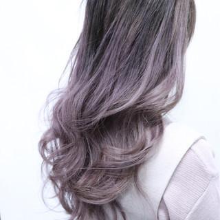 ダブルカラー ロング ガーリー グラデーションカラー ヘアスタイルや髪型の写真・画像