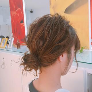 ミディアム 成人式 フェミニン 結婚式 ヘアスタイルや髪型の写真・画像