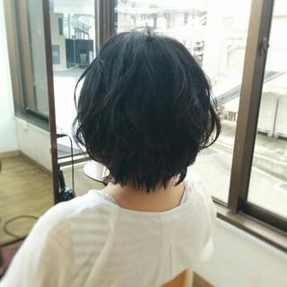 ボブ 大人かわいい ナチュラル 黒髪 ヘアスタイルや髪型の写真・画像
