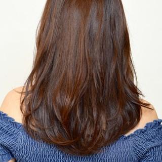 ロング 外国人風 ハイライト ナチュラル ヘアスタイルや髪型の写真・画像