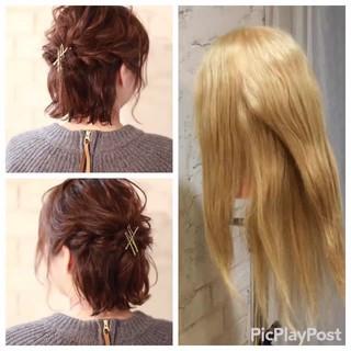 ヘアアレンジ パーティ ボブ 結婚式 ヘアスタイルや髪型の写真・画像 ヘアスタイルや髪型の写真・画像