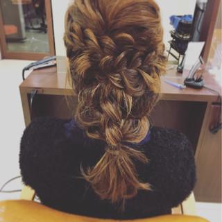 袴 フェミニン ヘアアレンジ セミロング ヘアスタイルや髪型の写真・画像 ヘアスタイルや髪型の写真・画像