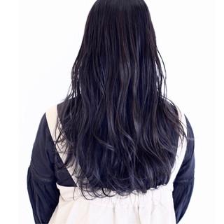 波ウェーブ イルミナカラー 透明感 ロング ヘアスタイルや髪型の写真・画像 ヘアスタイルや髪型の写真・画像