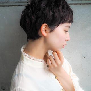 ショート 大人かわいい ベリーショート ショートボブ ヘアスタイルや髪型の写真・画像