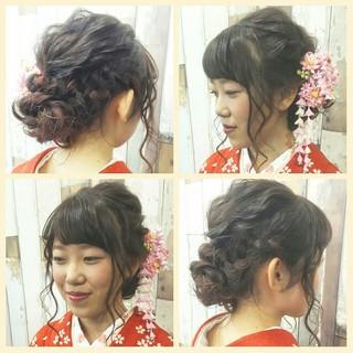 ヘアアレンジ ロング 成人式 ヘアスタイルや髪型の写真・画像