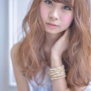 夏 ミディアム 涼しげ パーマ ヘアスタイルや髪型の写真・画像 ヘアスタイルや髪型の写真・画像