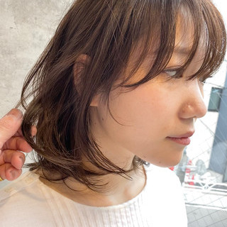 ゆるふわ デジタルパーマ ミニボブ 小顔ショート ヘアスタイルや髪型の写真・画像
