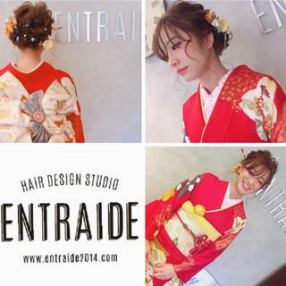 成人式 フェミニン ヘアアレンジ 和装ヘア ヘアスタイルや髪型の写真・画像 ヘアスタイルや髪型の写真・画像