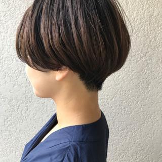 ショートボブ 刈り上げショート ハンサムショート ショートヘア ヘアスタイルや髪型の写真・画像
