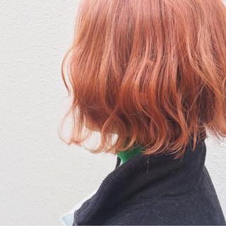 外国人風カラー ボブ ハイトーン ストリート ヘアスタイルや髪型の写真・画像