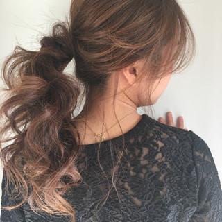 セミロング 大人女子 ショート 簡単ヘアアレンジ ヘアスタイルや髪型の写真・画像