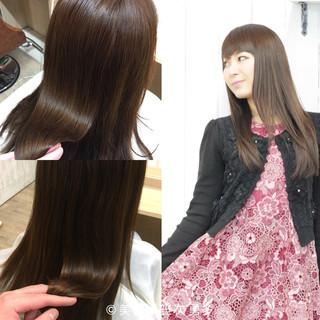 コンサバ ナチュラル 前髪あり ロング ヘアスタイルや髪型の写真・画像