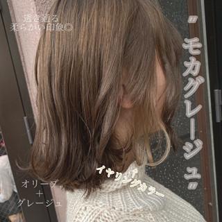 ミニボブ ボブ インナーカラー フェミニン ヘアスタイルや髪型の写真・画像