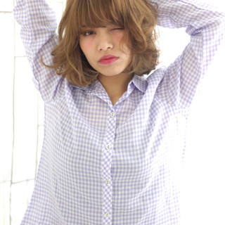 色気 愛され モテ髪 ガーリー ヘアスタイルや髪型の写真・画像
