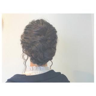 ヘアアレンジ 二次会 女子会 セミロング ヘアスタイルや髪型の写真・画像 ヘアスタイルや髪型の写真・画像