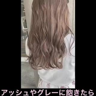 透明感カラー シアーベージュ ミルクティーベージュ ナチュラル ヘアスタイルや髪型の写真・画像
