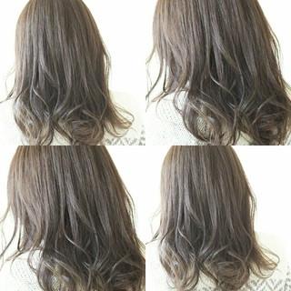 ゆるふわ 透明感 外国人風カラー イルミナカラー ヘアスタイルや髪型の写真・画像