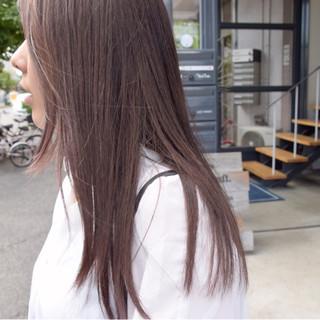 ピンク フェミニン 透明感 ロング ヘアスタイルや髪型の写真・画像