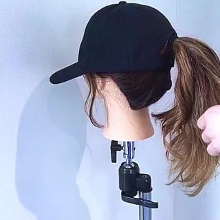 ヘアアレンジ キャップ デート ポニーテール ヘアスタイルや髪型の写真・画像