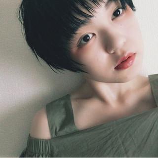 ヘアアレンジ 黒髪 ベリーショート ショート ヘアスタイルや髪型の写真・画像
