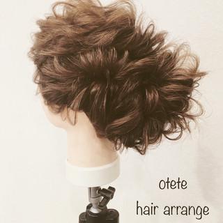エレガント 結婚式 簡単ヘアアレンジ 上品 ヘアスタイルや髪型の写真・画像