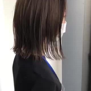 インナーカラー ミニボブ ウルフカット ナチュラル ヘアスタイルや髪型の写真・画像
