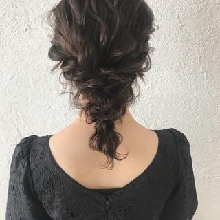 デート ゆるふわ ヘアアレンジ ミディアム ヘアスタイルや髪型の写真・画像