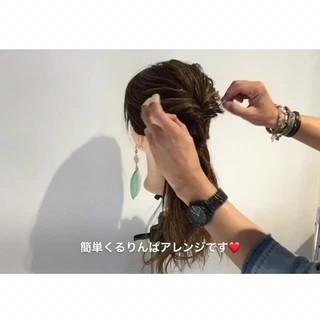デート ロング ヘアアレンジ 上品 ヘアスタイルや髪型の写真・画像