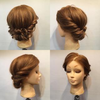 セミロング 花火大会 フェミニン お祭り ヘアスタイルや髪型の写真・画像