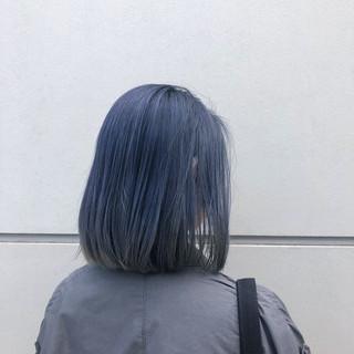 ボブ ハイトーン 外国人風カラー アウトドア ヘアスタイルや髪型の写真・画像