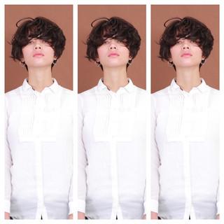 マッシュショート ショートヘア モード ショートボブ ヘアスタイルや髪型の写真・画像 ヘアスタイルや髪型の写真・画像