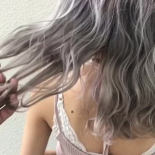 モード ブリーチ ハイトーン 外国人風 ヘアスタイルや髪型の写真・画像