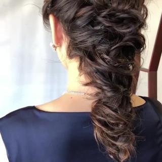 デート 大人かわいい ロング 結婚式 ヘアスタイルや髪型の写真・画像