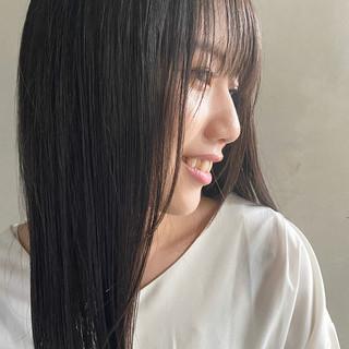 ナチュラル ナチュラル可愛い セミロング 艶髪 ヘアスタイルや髪型の写真・画像