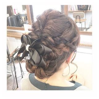 上品 女子会 結婚式 編み込み ヘアスタイルや髪型の写真・画像 ヘアスタイルや髪型の写真・画像