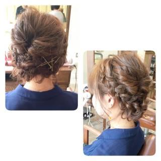 くるりんぱ 編み込み ゆるふわ ボブ ヘアスタイルや髪型の写真・画像 ヘアスタイルや髪型の写真・画像
