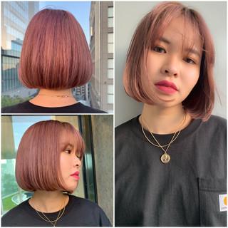 ボブ 阿藤俊也 PEEK-A-BOO ワンレングス ヘアスタイルや髪型の写真・画像