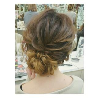 シニヨン フェミニン ゆるふわ ヘアアレンジ ヘアスタイルや髪型の写真・画像