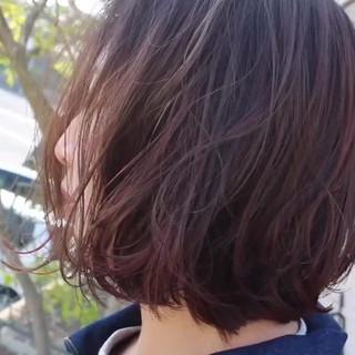 透明感カラー モテ髪 ゆるふわセット ボブ ヘアスタイルや髪型の写真・画像