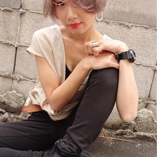 ショート ヘアアレンジ ストリート ヘアスタイルや髪型の写真・画像