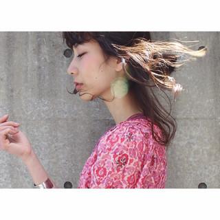 暗髪 ピュア モード セミロング ヘアスタイルや髪型の写真・画像