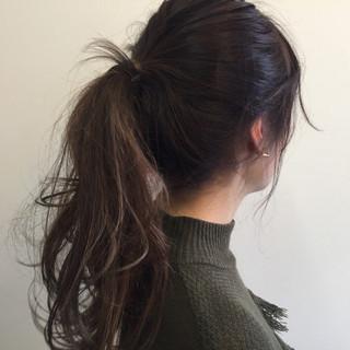 ヘアアレンジ 外国人風 セミロング ブリーチ ヘアスタイルや髪型の写真・画像