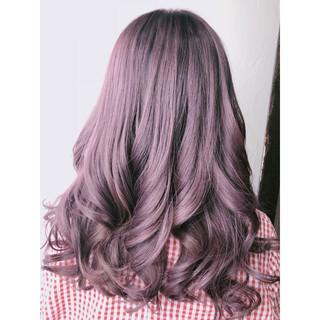 フェミニン ラベンダーピンク ピンク ピンクアッシュ ヘアスタイルや髪型の写真・画像