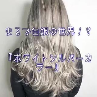 ヘアアレンジ 透明感 フェミニン ヘアカラー ヘアスタイルや髪型の写真・画像
