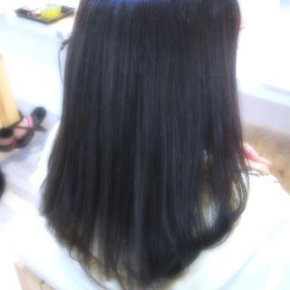 艶髪 グレー ナチュラル ロング ヘアスタイルや髪型の写真・画像