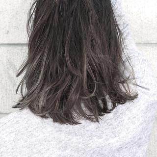 暗髪 外国人風 ミディアム 黒髪 ヘアスタイルや髪型の写真・画像