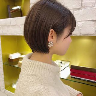 ミニボブ ベリーショート ショートヘア ショートボブ ヘアスタイルや髪型の写真・画像