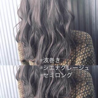グレージュ アッシュ 前髪 アッシュグレージュ ヘアスタイルや髪型の写真・画像