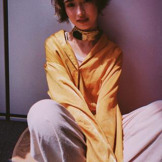 ショートボブ ストリート 阿藤俊也 PEEK-A-BOO ヘアスタイルや髪型の写真・画像
